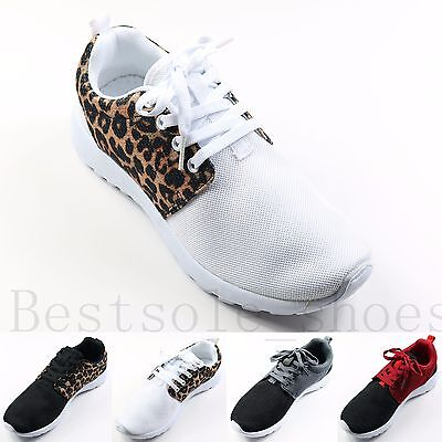 £9.99 • Buy Ladies Womens Girls Flat Lace Up Trainers Plimsolls Pumps Gym Running Shoes Size