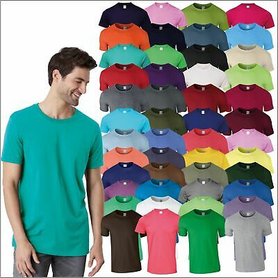 Gildan Softstyle™ Adult Ringspun T-Shirt Soft Cotton Plain Casual Leisure Tee T • 6.35£