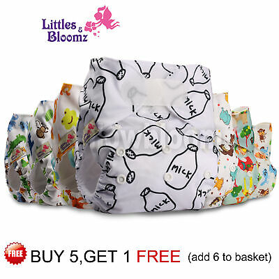 View Details Reusable Baby Washable Cloth Nappy Cover STANDARD Hook-Loop Pocket Diaper 0-3yrs • 6.09£