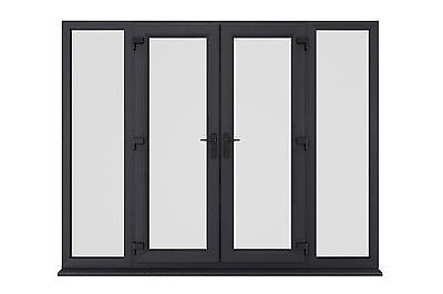New Anthracite (ral 7016) Grey Upvc French Patio Doors - Made In Uk & In Stock • 975£