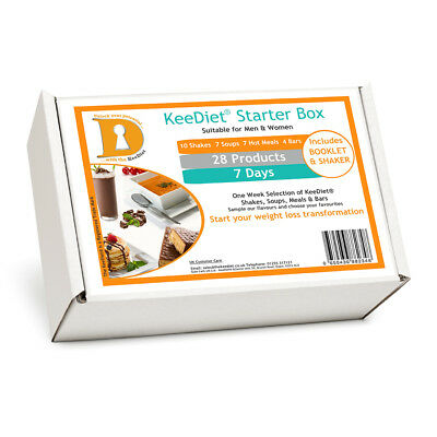 £29.95 • Buy KeeDiet Starter Diet Box 28 VLCD Meal Replacement Weight Loss Shakes Bars & More