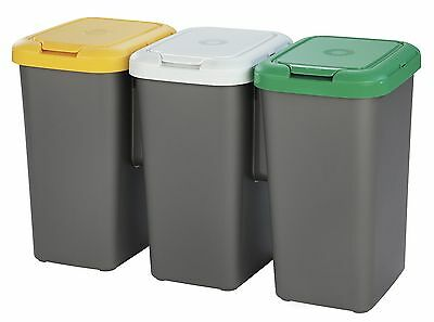 £28.99 • Buy New!! Tontarelli 3 Compartment Recycle Bin With 3 X 25l Compartments Recycling