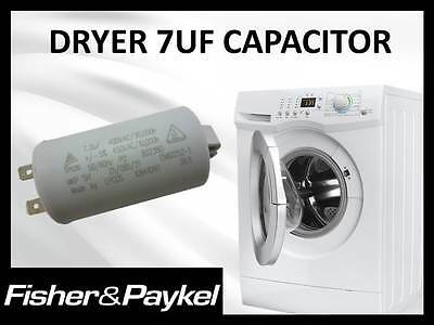 AU31.45 • Buy Genuine Fisher & Paykel Dryer 7uf Capacitor Part # 427906p Replaces 427616