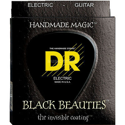 $ CDN11.64 • Buy DR Strings BKE-10 Medium Black Beauties Electric Guitar Strings (10-46)