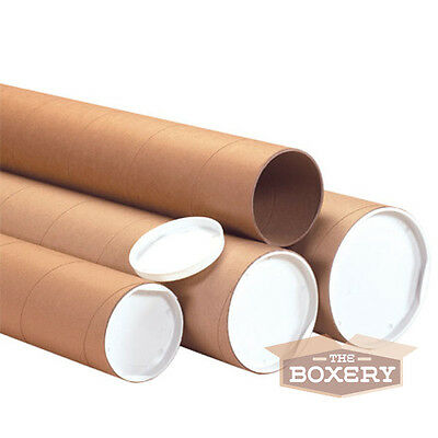 $45.50 • Buy 1.5x30'' Kraft Mailing Shipping Packing Tubes 50/cs From The Boxery