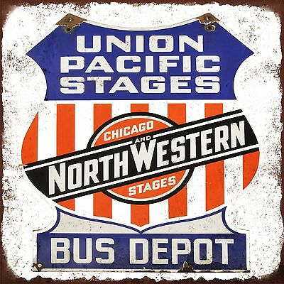 AU11.52 • Buy Union Pacific Bus Depot High Quality Metal Magnet 4 X 4 Inches 9368