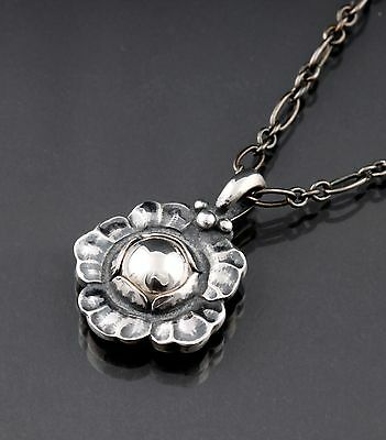GEORG JENSEN Sterling Silver Pendant Of The Year 2002 With Silverball. RARE! • 137.03£