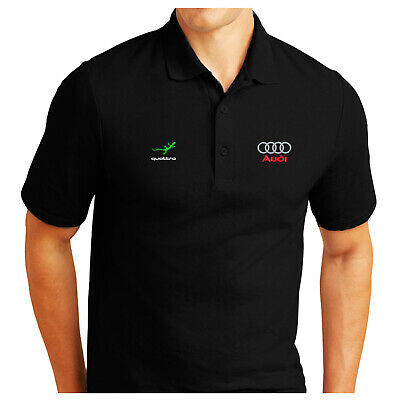 £19.99 • Buy Personalised Audi Quattro Logo Embroidered Pique Polo Shirt Work Outdoor Sport
