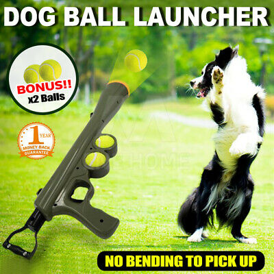 AU24.35 • Buy Dog Tennis Ball Gun Launcher  Pet Play Outdoor Toy Fetch Throw Interactive Toy