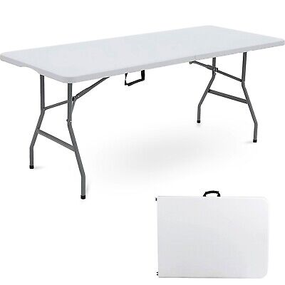 £49.99 • Buy 6FT HEAVY DUTY 1.8 Meter FOLDING CATERING CAMPING TRESTLE TABLE BBQ PICNIC PARTY