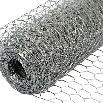 Chicken Wire Galvanised Steel Wire Netting Perfect For Chicken Coops & Pet Runs • 15.86£