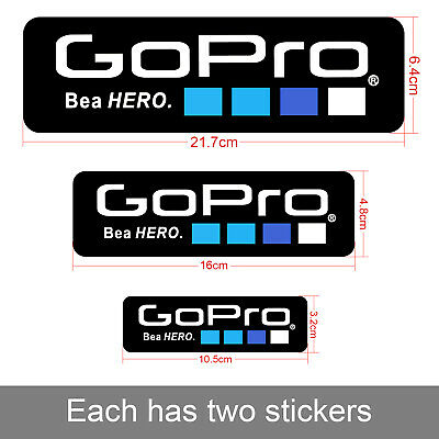 $ CDN5.06 • Buy 6Pcs Lcon Logo Stickers Decal For GoPro Hero Accessories Sports Helmet Camera