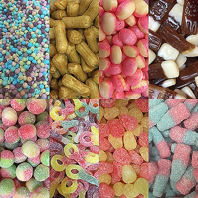Pick & Mix Sweets * Retro Candy Assortment * Party Bags * Bulk Buy * Discounted* • 10.99£