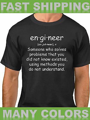 $13.49 • Buy Engineer T Shirt Quote Tee Funny Gift Engineering Student T-Shirt Definition