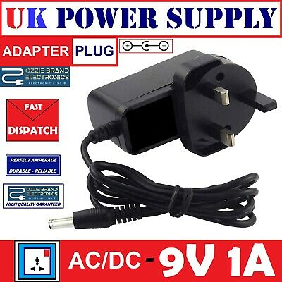 £7.40 • Buy Uk 9v Ac/dc Power Supply Adapter To Fit Boss Psa-240 Psa240 Guitar Effects Pedal