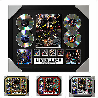 AU93.50 • Buy Metallica Signed Framed Memorabilia Limited Edition 2017 - Multiple Variations