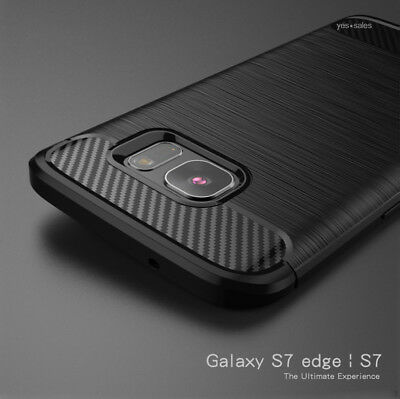 AU9.98 • Buy Galaxy S7 S6 Edge Case Carbon Fiber Slim Armor Shockproof TPU Cover For Samsung