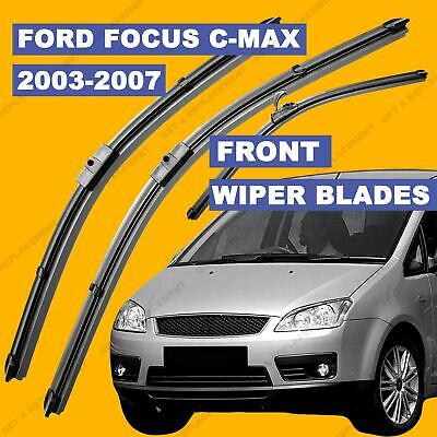Side Pin Front Set Wiper Blade For Ford Focus C-Max 2003-2007 53 54 55 56 57 Reg • 12.65£