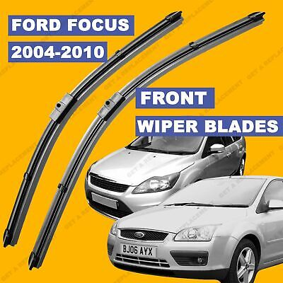 Side Pin Front Set Wiper Blade For Ford Focus 04-11 54 55 56 57 58 59 60 61 Reg • 8.99£