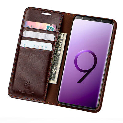 AU12.82 • Buy For Samsung Galaxy S8 S10 Plus Case Magnetic Leather Wallet Card Holder Cover