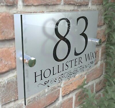 Classic House Sign Plaques Door Numbers 1 - 999 Personalised Name Plate • 8.99£