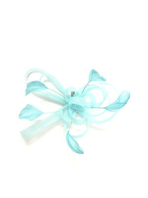 Mint Green Feather Fascinator Hair Clip Ladies Day Races Party Wedding • 21.99£