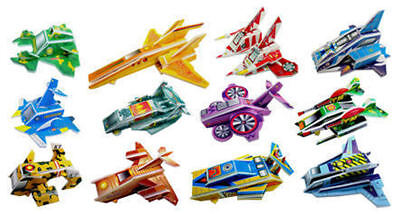 £3.19 • Buy 12 Spaceship 3D Puzzles - Pinata Toy Loot/Party Bag Fillers Wedding/Kids