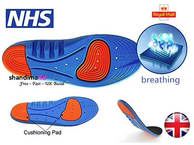Diabetic Medical Arch Support Extra Thick Insoles Running Working Boots Shoes • 4.70£