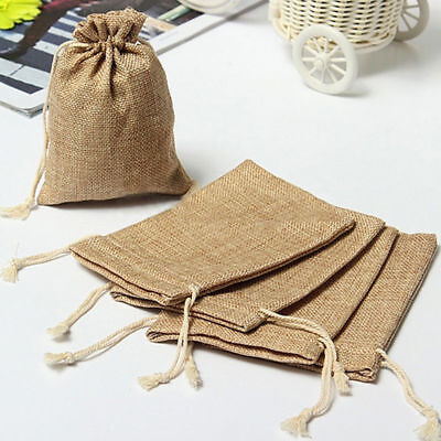 Hessian Natural Jute Favour Bags, Table Runners & Ribbons With Lace - Wedding • 4.99£