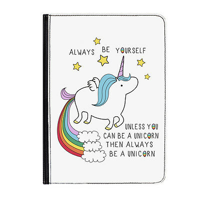 AU46.79 • Buy Unicorn Always Be Yourself Rainbow Universal Tablet 7  Leather Flip Case Cover