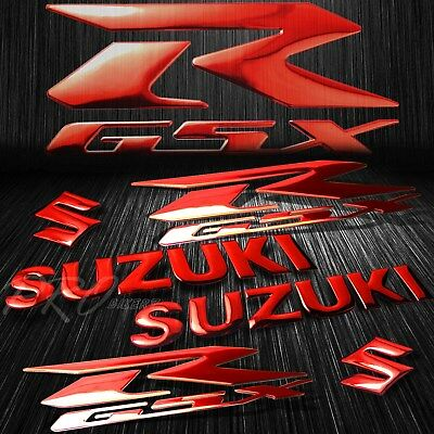 $23.78 • Buy 5.75 ABS Logo+Letter Decal+6.25  GSXR Fairing Emblem Sticker Suzuki Chromed Red