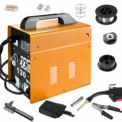 £71.99 • Buy MIG-130 Welder Welding Machine Gas Less Flux Core Automatic Feed W/ Mask Yellow