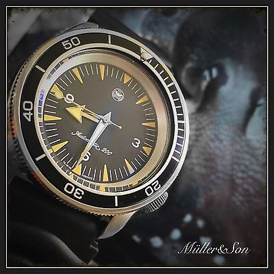 $ CDN1014.78 • Buy Müller&Son Watch Mod  Seamaster 300 Spectre  Made From Seiko SKX007+Shark Strap