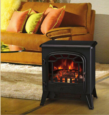 1850W Electric Fireplace Fire Log Burning Flame Effect Stove Living Room New • 72.99£