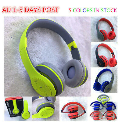 AU22.99 • Buy Kids Bluetooth Matte Touch Bass Stereo Wireless Headphone Headset With Mic FM