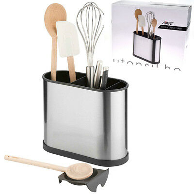 AU27.95 • Buy 100% Genuine! AVANTI S/S Slimline Utensil Holder With Spoon Rest! RRP $31.95!