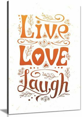 Live Love Laugh Home Decor Canvas Wall Art Picture Print • 24.99£