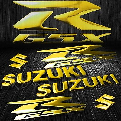$23.78 • Buy 5.75 ABS Logo+Letter Decal+6.25  GSXR Fairing Emblem Sticker Suzuki Chromed Gold