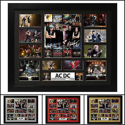 AU93.50 • Buy ACDC Signed Framed Memorabilia Limited Edition 2017 - Multiple Variations