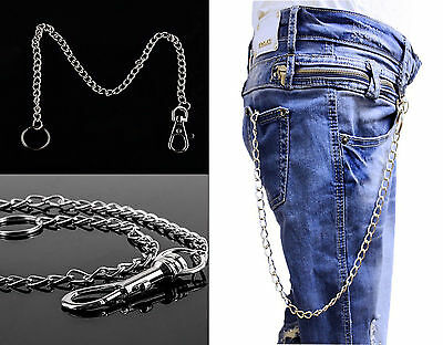 Long Silver Hipster/Lobster Key Ring Jeans Wallet Belt Key Chain Ring Gothic Uk • 3.99£