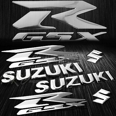 $23.78 • Buy 5.75  ABS Logo+Letter Decal+6.25  GSXR GSX Fairing Emblem Sticker Suzuki Chromed