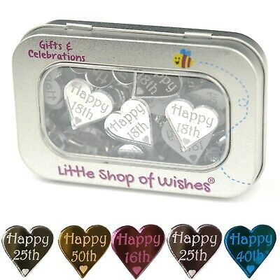 Happy Birthday Table Confetti Age Party Favours Anniversary Hearts Decorations • 9.99£