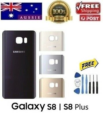 AU12.70 • Buy Samsung Galaxy S8 & S8 Plus Back Rear Glass Housing Battery Cover Case + TOOLS