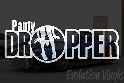 $1.99 • Buy Panty Dropper V2 Decal Sticker - JDM Lowered Stance Low Drift Slammed Turbo