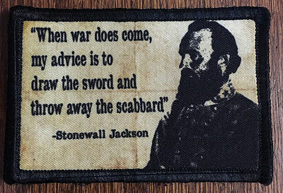 $7.99 • Buy Civil War Stonewall Jackson Morale Patch Tactical Military Army Badge Hook Flag
