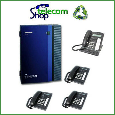 Panasonic KX-TDA30 Telephone System With 4 ISDN2 And 4 Phones W/O Side Cover • 150£