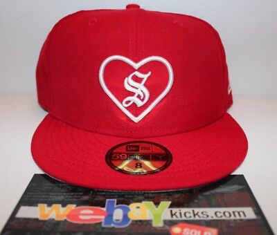 $ CDN202.51 • Buy New Era Supreme New York Heart Red White Size 8 Fitted Cap Hat FW17H105 New