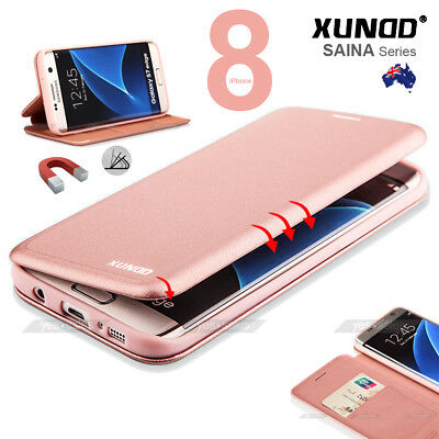 AU16.85 • Buy XUNDD Magnetic Leather Wallet Card Holder Case Full Cover For IPhone Xs Max X 8