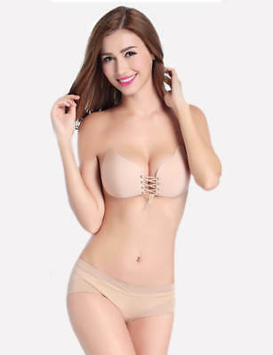 Bra Push Up Nude Bra Invisible Gel With Adhesive Bra Without Straps • 16.20£
