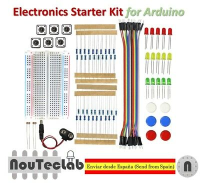 Electronics Starter Kit For Arduino UNO R3 Breadboard LED Jumper Wire Button • 8.06£